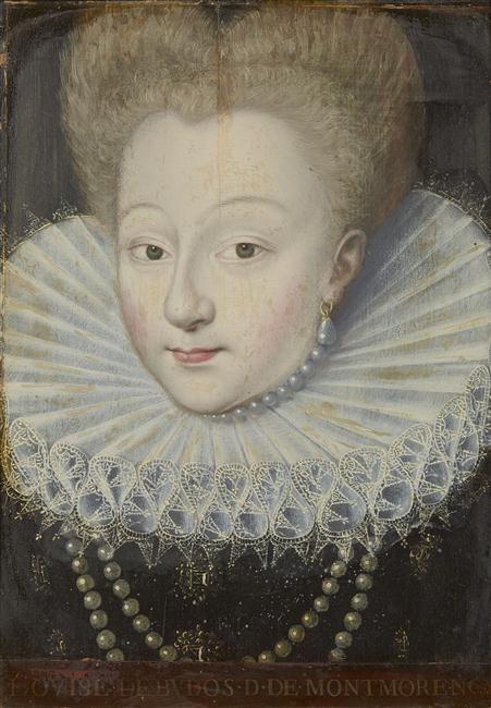 Louise de Budos, duchesse de Montmorency (1575-1598), H. 0.35, L. 0.23, Cachet de Colbert de Torcy. Musée de Versailles