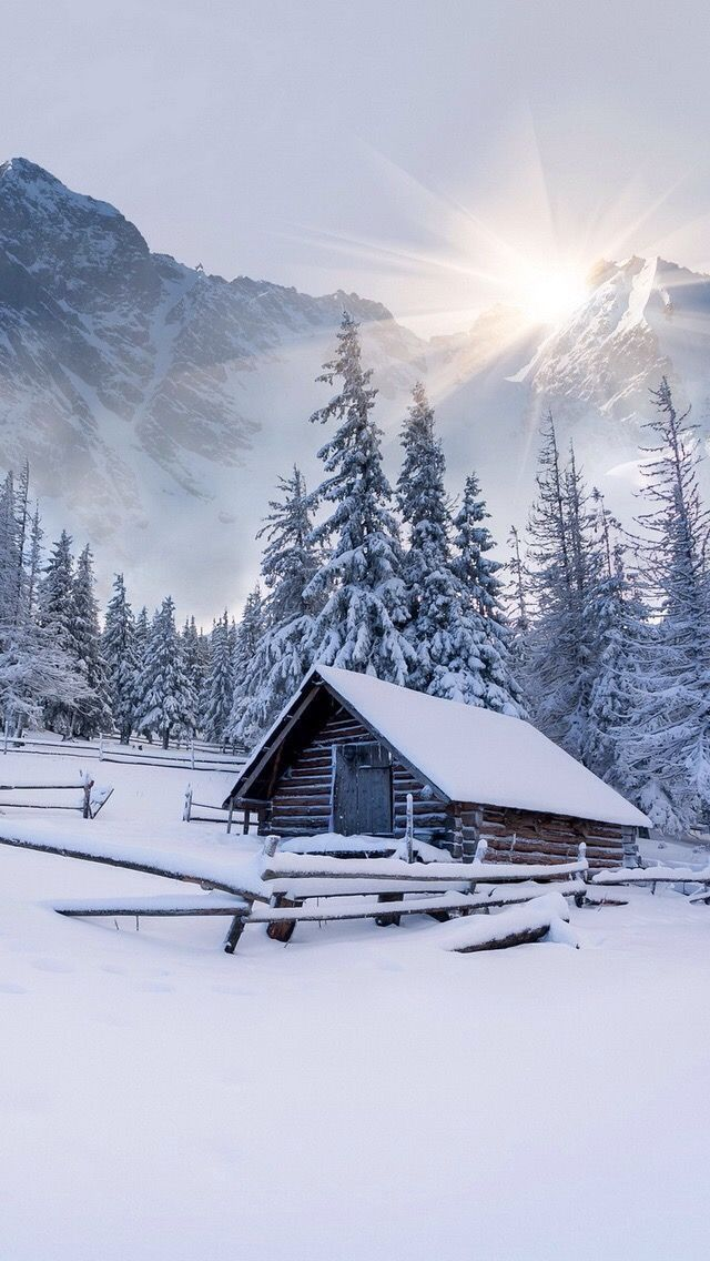Old farm in the mountains in winter (Switzerland) by Andrew Mayovskyy