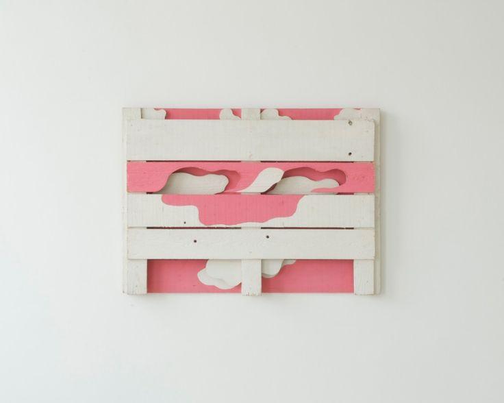 Alfonso Hüppi, 1967, Kaseinfarbe auf Holz, 67 x 92 x 5 cm