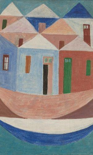 Casas e barcos. Década de 1950. Alfredo Volpi (1896-1988). Pintor ítalo-brasileiro.