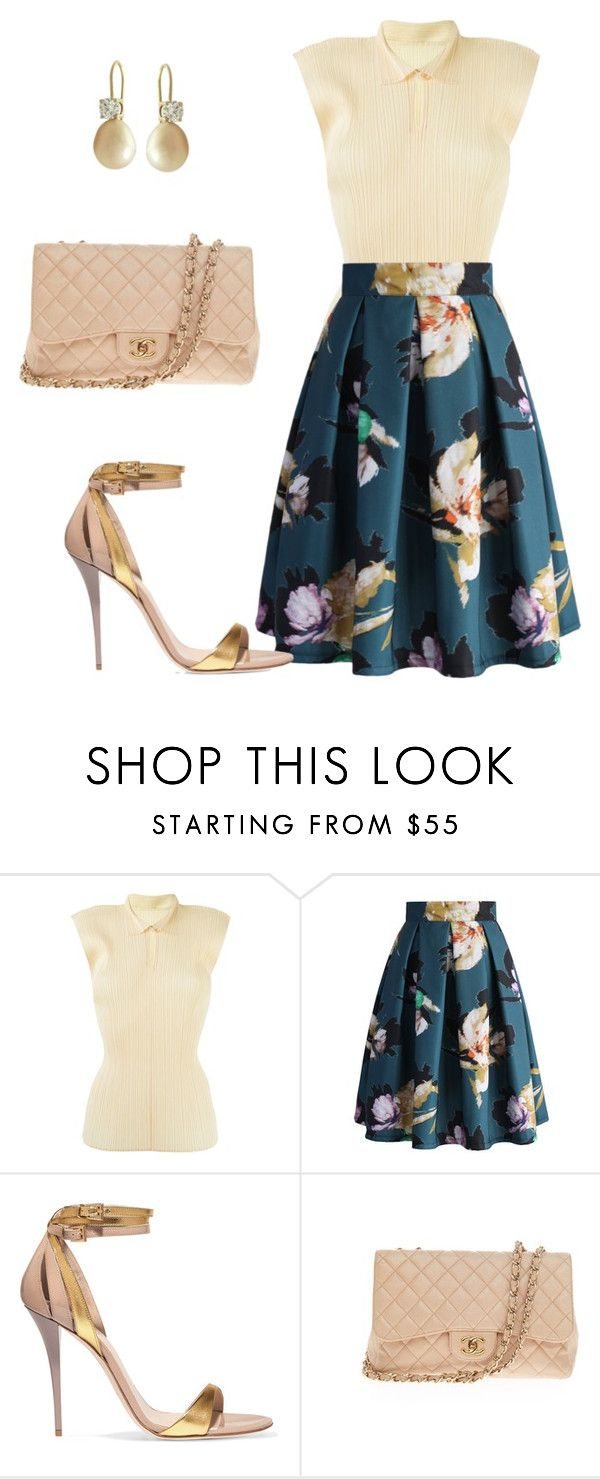 """Ready for Church"" by arta13 ❤ liked on Polyvore featuring Issey Miyake, Chicwish, Balmain and Chanel"