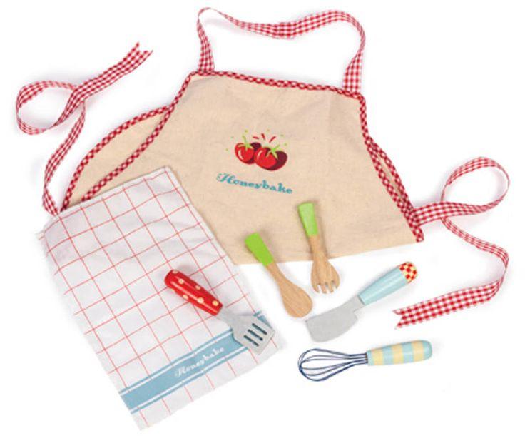 Le Toy Van-Kids Kitchen Accessories-Apron and Utensil Set