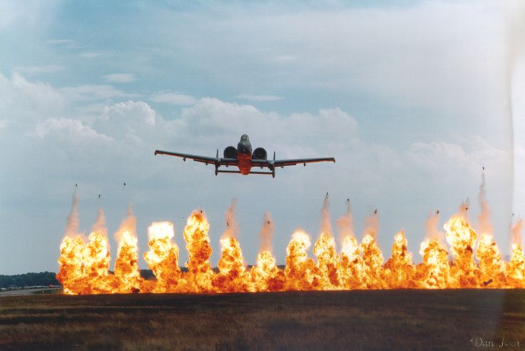 Essentially, the A-10 is built as one BIG gun. It's cannon is over 19 feet long and weighs a massive 4,000 lbs. But hey, if it were any less powerful then it wouldn't be able to fire through steel tanks. Each missile contains depleted uranium,