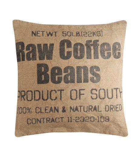 Coffee bean pillow #pillow #hm