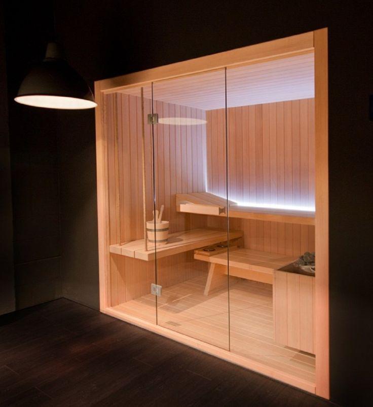 Cool Wooden Box Sauna Design 938x1024 Cozy Wooden Box Sauna Designs