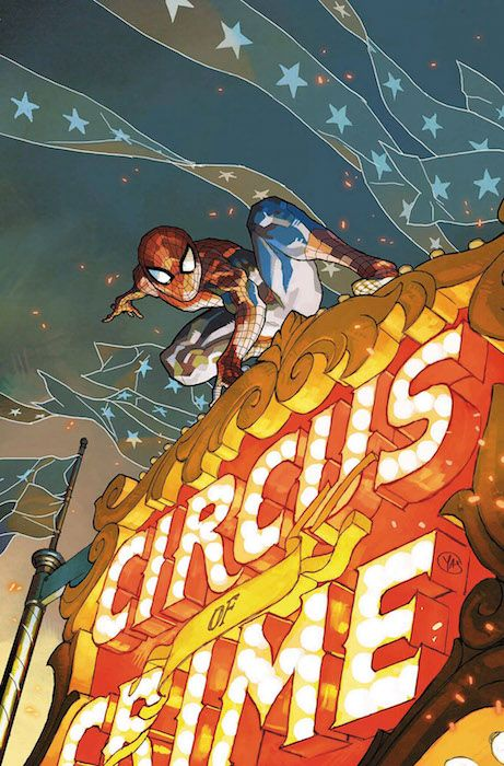 """El Asombroso Spiderman 108Con la conclusión de """"Espiral"""". La ola de crímenes que asuela Nueva York continúa imparable, mientras que Spiderman se ha visto atrapado entre un grupo de supercriminales y su aliada, El Espectro! Y además, continúan las aventuras de Seda y Spider-Gwen y el mítico Tom DeFalco vuelve a casa para una pequeña gran historia del trepamuros."""