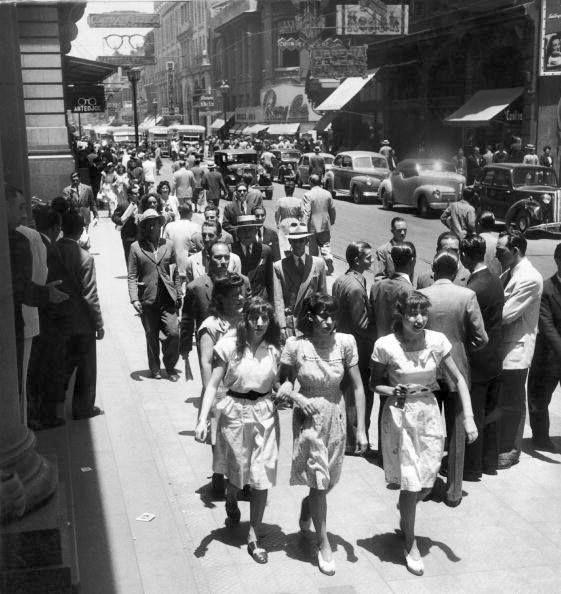 Chile. Calle Ahumada, Santiago,1957