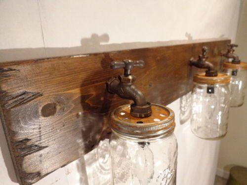 29 best images about braai area on pinterest vanity light fixtures buckets and vintage groom - Primitive bathroom vanity lights ...
