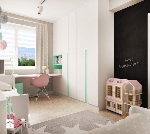 Pokój dla dwóch dziewczynek (12 m2) - zdjęcie od studio_projektowe_mandala