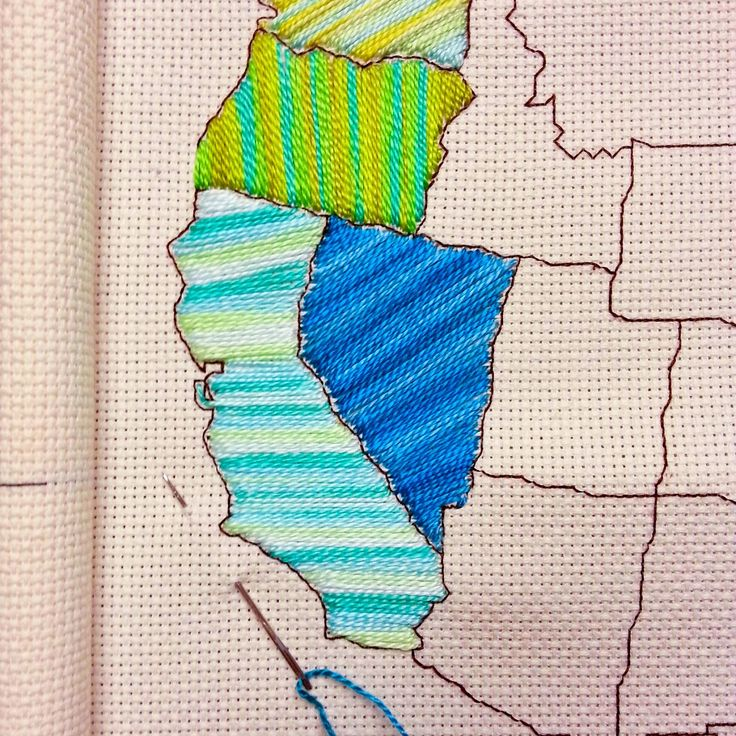 Raising up Rubies: a little shop update ♥ stitch the states US map pattern