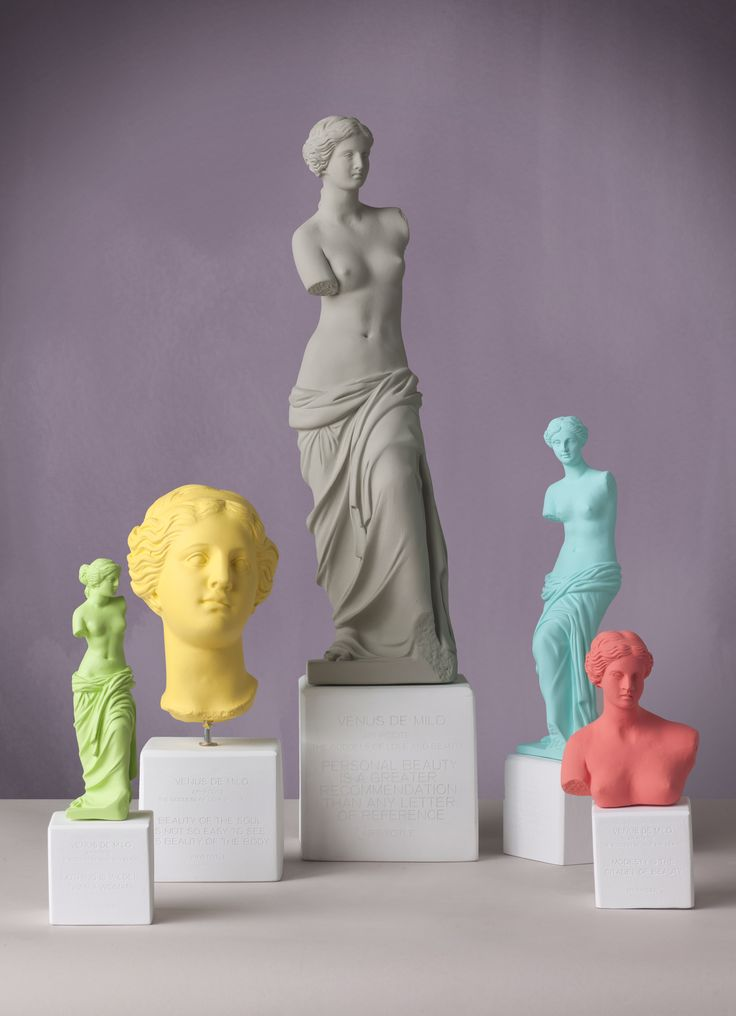 Venus de Milo The ancient Goddess of love has been an undisputed model of beauty and idealism. Sophia's Venus de Milo is wearing a contemporary palette of delicate colours.