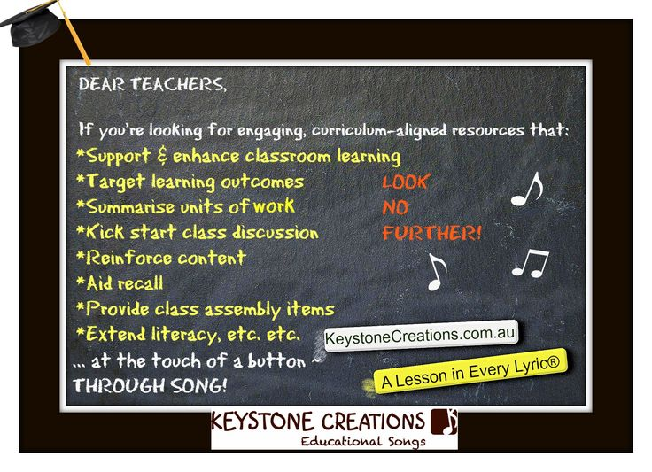 ♫ TEACHERS: Check out our student assembly performance videos: http://keystonecreations.com.au/videos.html *Our DOWNLOADABLE, curriculum-aligned song packages:  http://www.teachinabox.com.au/profile.aspx?memberid=RKCB37W269 ©LYRICS: Nuala O'Hanlon, B.Ed; Cert Teaching    MUSIC: Kathryn Radloff, B.A. (Hons) Psych: KEYSTONE CREATIONS ~ Educational Songs 'A Lesson in Every Lyric'® http://keystonecreations.com.au