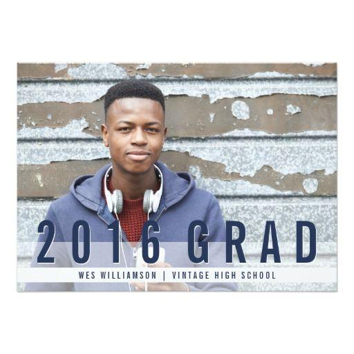 298 best graduation ideas 2016 images on pinterest graduation modern blues photo graduation party invitation stopboris Choice Image