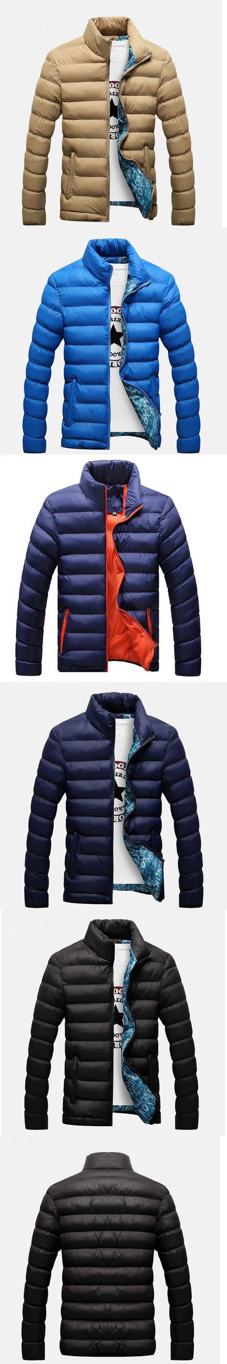 2017 Parka Men Autumn and winter new warm thickening jackers men cotton hats slim Zipper winter jackers mens winter parkas