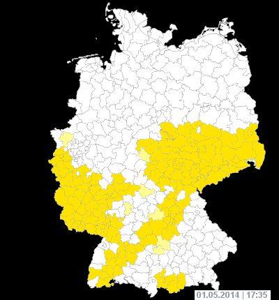 Wetterwarnungen für Deutschland. Aktuelle Unwetterwarnungen auf wetter.com.