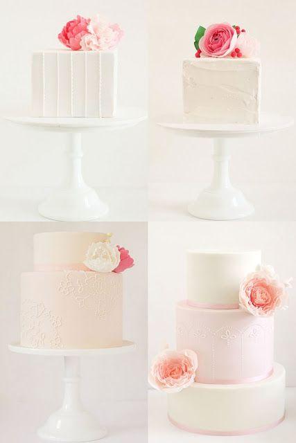 Pink & White Cakes