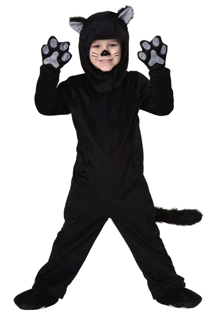 What's the best animal ever? A cat, of course! This Toddler Little Black Cat Costume is a great option for play time as well as Halloween!