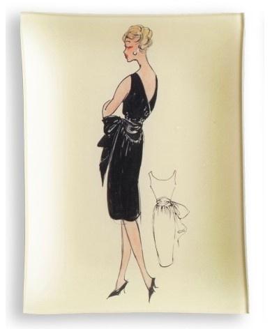 parisian fashion decoupage plate by mavis