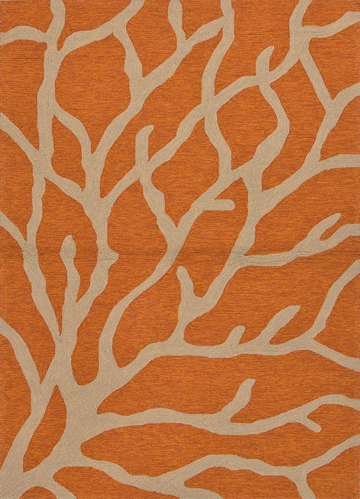 Coastal Living Indoor Outdoor Rug Coral Orange Amp Gray