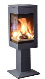 Quadro 1 - corner wood burner
