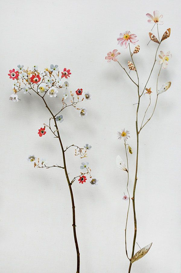 Recycled Materials Form Ornate Flower Sculptures