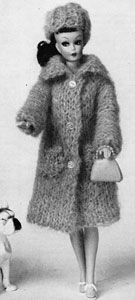 Mohair Coat and Hat | No. 774 | Doll Clothes Pattern | Knitting Patterns