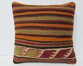 kilim pillow floor pillow 16x16 country home decor tapestry pillow cover kilim pillowcase bench throw pillow rustic bedding pillows 24707