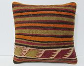kilim pillow floor pillow 16x16 country home decor tapestry pillow cover kilim pillowcase bench throw pillow rustic bedding pillows 24707