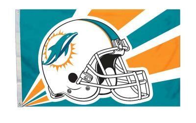 Miami Dolphins Helmet Design 3'x 5' NFL Flag. #Neoplex #NFL #Football #Sports #Flags #Helmet #MiamiDolphins