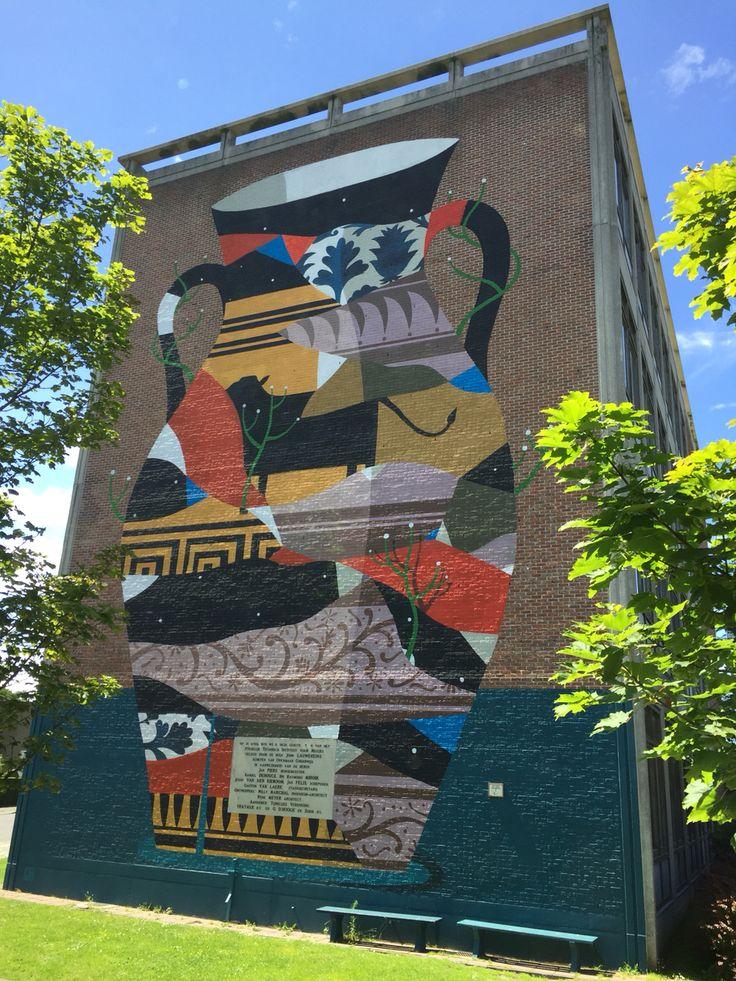 School wall in Oostende