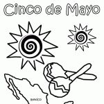 Best Cinco De Mayo Pictures to Color 2014, Coloring Images for Cinco De Mayo, Black & white Cinco De Mayo Pictures 2014