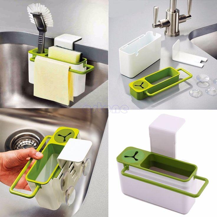 Frete grátis Base de ventosa cozinha esponja escova pia drenagem Rack de lavagem titular em Prateleiras e cabides de Casa & jardim no AliExpress.com | Alibaba Group