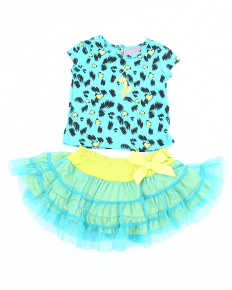 40.00 The 2 Piece Set - Leopard Tee & Tutu by Baby Phat