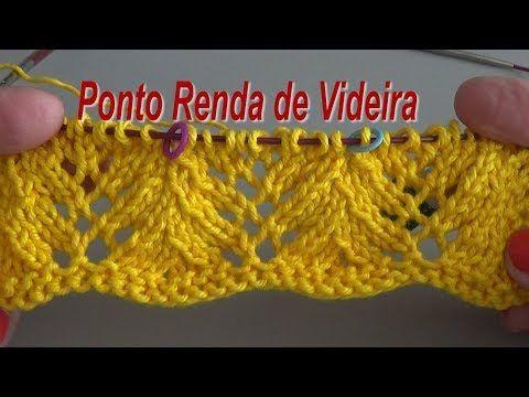 Ponto Renda de Videira {Tricota Curitiba} - YouTube