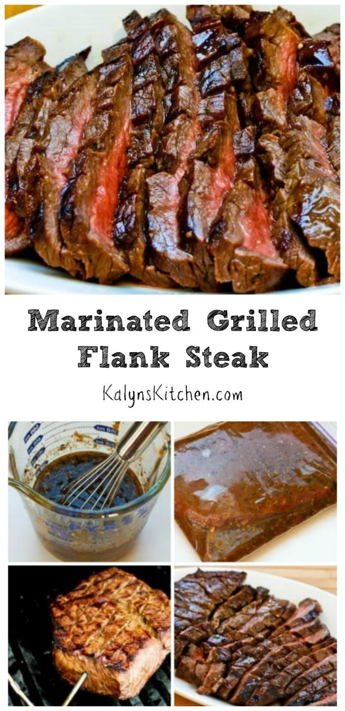 For anyone who enjoys beef, this Marinated and Grilled Flank Steak is the perfect recipe for a summer holiday party or family dinner. This tasty grilled flank steak is low-carb, gluten-free, and it can be Paleo with the right ingredient choices. [from KalynsKitchen.com]