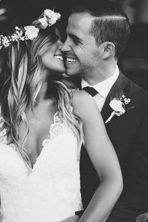 Boho Backyard Wedding in Virginia, Bride and Groom Portraits | Wedding Photography | Black and white wedding photography