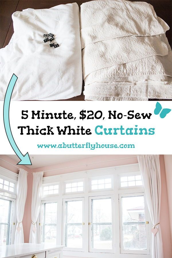 Cheap And Easy No Sew Diy Curtains Diy Curtains Easy Diy Decor