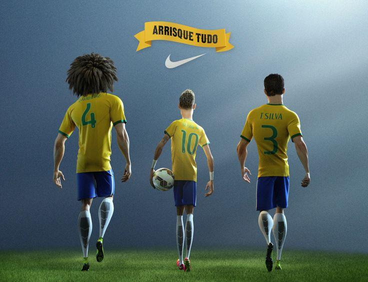 Arrisque Tudo, com jogadores brasileiros em campanha da Nike para a Copa do Mundo 2014