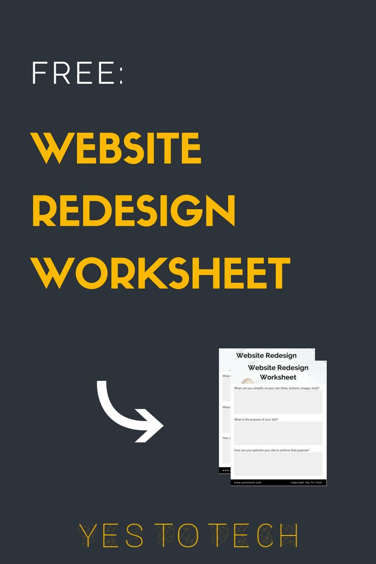 Want to know what action items you should follow and what questions you should be asking yourself during a redesign? Download the free Website Redesign Worksheet!