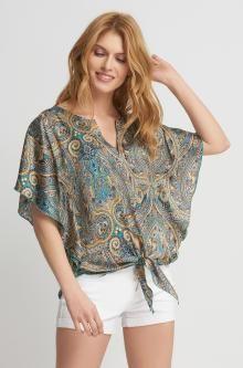Bluză liliac cu model oriental