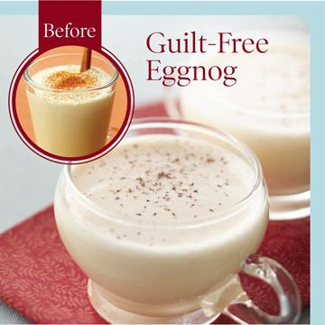 Enjoy your favorite foods (such as eggnog, cheesy potatoes, and stuffing) by making these versions that are lower in fat and calories.