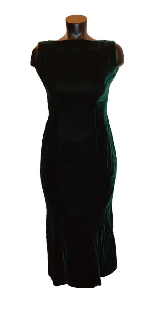 Watters and Watters Vintage 80s Green Velvet Formal Party Prom Dress Size 6   fashion  clothing  shoes  accessories  vintage  womensvintageclothing  (ebay ... 08ed4942c