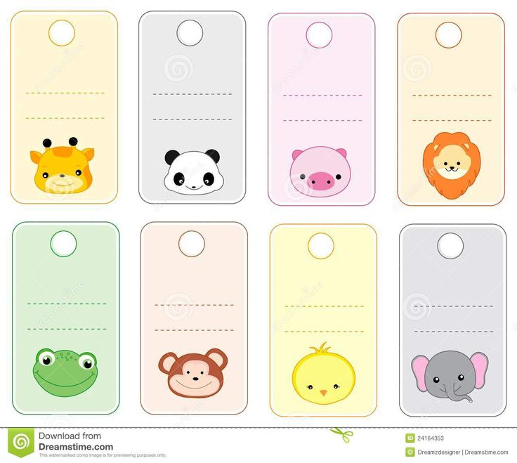 Animal Gift Tags - Download From Over 44 Million High Quality Stock Photos, Images, Vectors. Sign up for FREE today. Image: 24164353