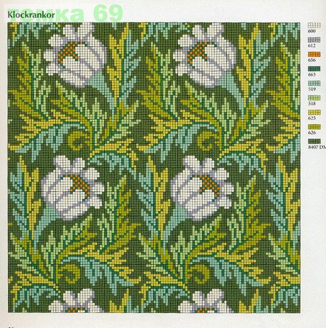 INGRID PLUM Klassiskt Korsstygns Broderi (Classic Cross Stitch Embroidery)