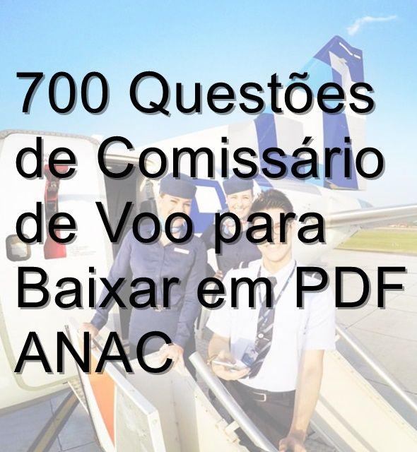 700 Questoes De Comissario De Voo Para Baixar Em Pdf Anac