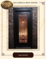 SINGLE IRON FRONT DOOR, HARDWARE INCLUDED, Polyurethane Foam Insulation
