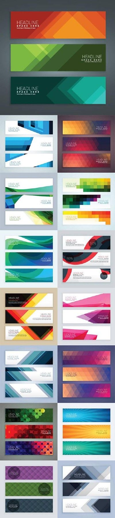 horizontal banner web design more - Banner Design Ideas