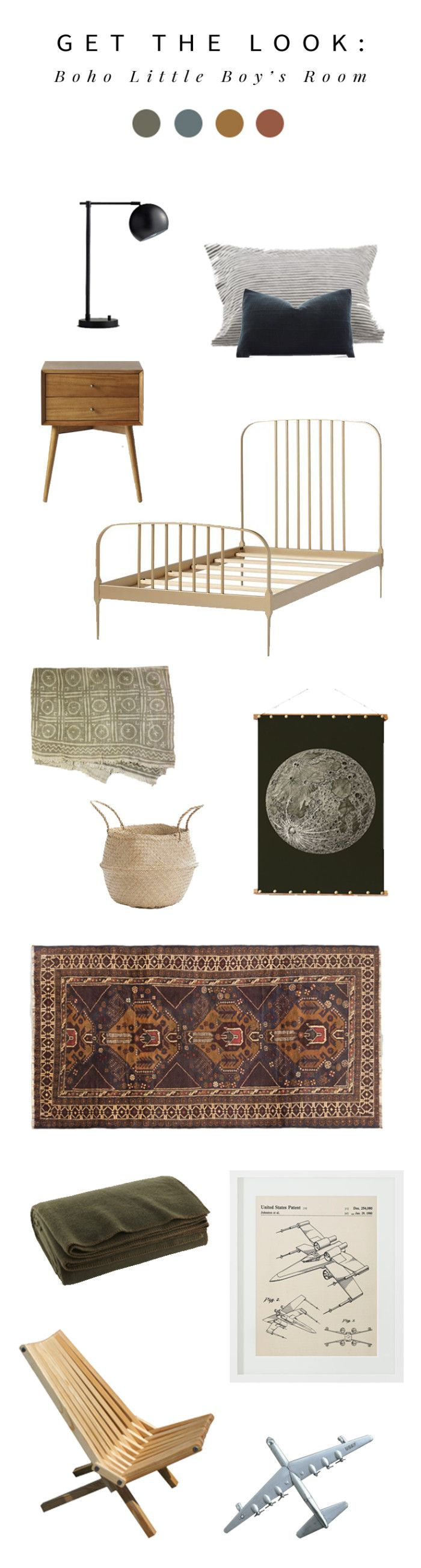 Interior stylist Anna Smith of Annabode + Co. shares the design for her bohemian little boy's room, along with how to get the look yourself!