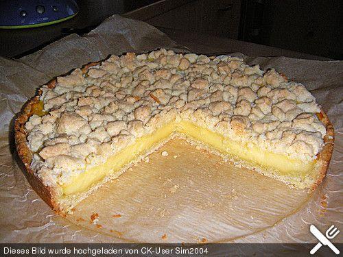 Streuselkuchen mit Pudding