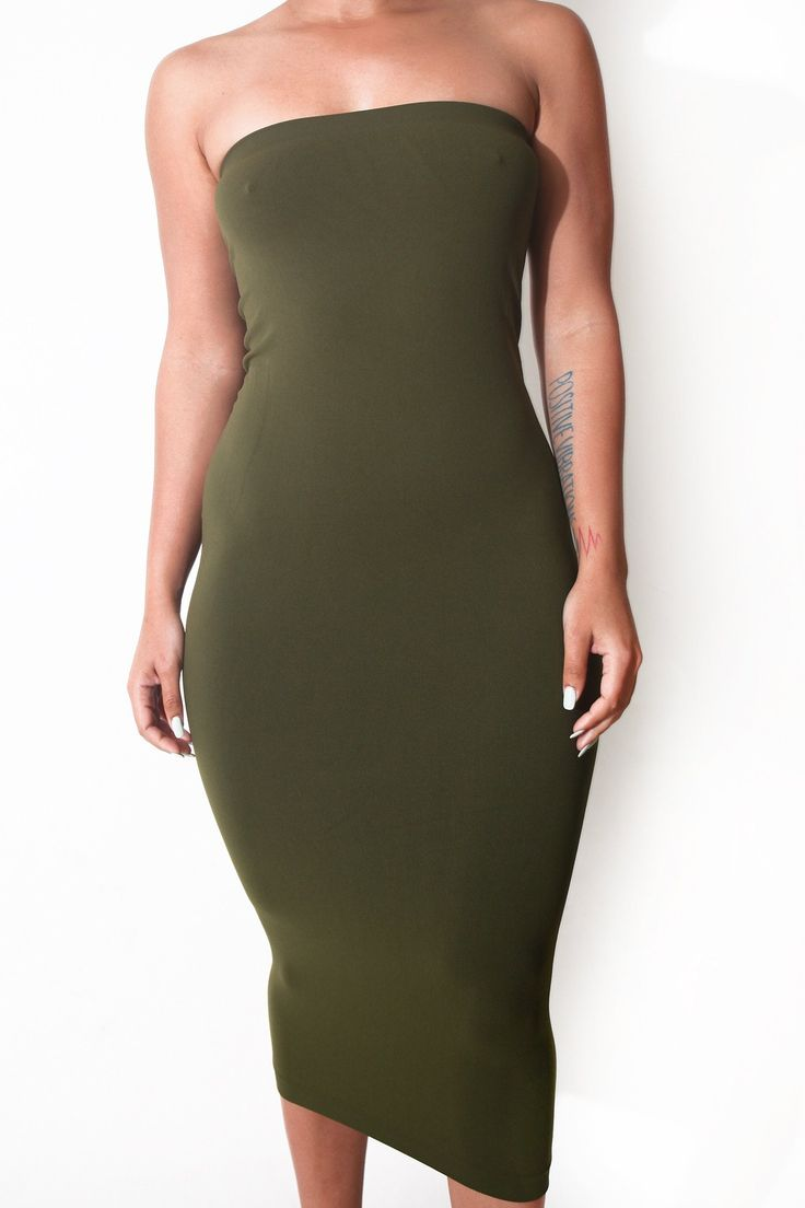 Olive Maxi Skirt/Tube Dress (fits up to plus)
